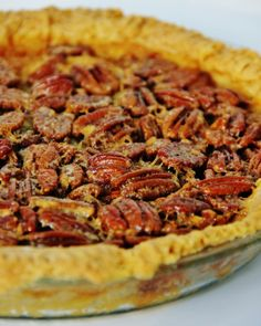 100 YEAR OLD PECAN PIE RECIPE ~ My friend's family recipe. She told me it was good. She told me that it wasn't too sweet and wasn't too runny and set-up perfectly after you let it cool. But she left off the melt-in-your mouth part!.