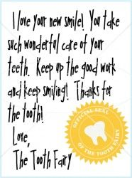 so cute - santa leaves notes so why not the tooth fairy?!