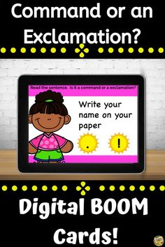 Punctuation - Is It a Command or an Exclamation? Digital Task Cards - Distance Learning Going paperless? Looking for something engaging and fun? Try using task cards on your computers or mobile devices! This deck of cards focuses on identifying if a sentence needs a period or exclamation markand in...