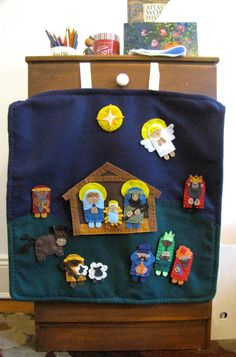 Nativity Play set for felt boards 14 pieces by squaregardens Kids Crafts, Christmas Crafts For Kids, Felt Crafts, Holiday Crafts, Holiday Fun, Christmas Nativity Scene, Felt Christmas, Handmade Christmas, Christmas Holidays