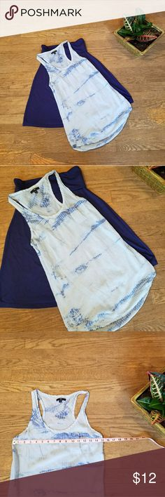 Gap shear tank top Gap shear tank top size small.  Tyedye with small left breast pocket.  In used condition Gap Tops Tank Tops