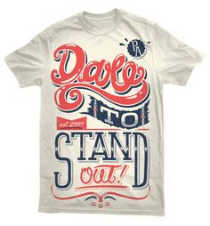 35 Beautiful Typographic T-Shirt Designs / inspirationfeed.com on imgfave