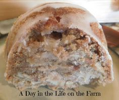 A Day in the Life on the Farm: Apple Almond Coffee Cake with Honey Glaze for…