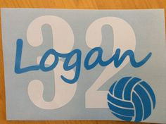 Indoor/Outdoor Personalized Vinyl Volleyball Decal by BarkIt on Etsy https://www.etsy.com/listing/222836350/indooroutdoor-personalized-vinyl