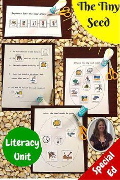 The Tiny Seed Literacy Unit for Special Education.  This unit is specifically designed for students with special learning needs, especially autism.  There are suggestions for differentiation to keep all students engaged. Includes:  storyboard, seedling growth sequencing, 2 circle maps, sorting activity,  cloze activity, preposition booklet, social story on perseverance.  Download at:  https://www.teacherspayteachers.com/Product/The-Tiny-Seed-Literacy-Unit-for-Special-Education-1789188