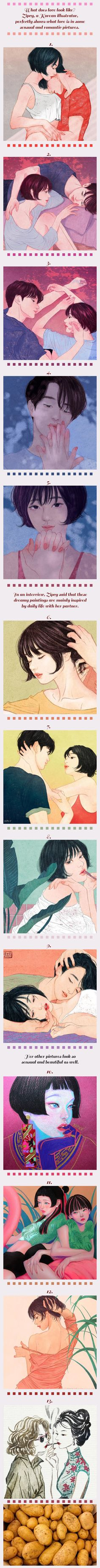 Korean Artist Depicts The Sensual Side Of Love In Gorgeous Illustrations