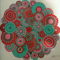 Johanna Basford | Colouring Gallery Adult Coloring, Coloring Books, Coloring Pages, Joanna Basford, Johanna Basford Secret Garden, Secret Garden Coloring Book, Flower Mandala, Pen Art, Neon Colors