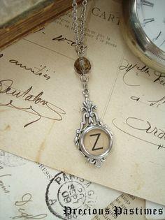 typewriter jewelry etsy | Typewriter Key Jewelry - Letter Z Vintage Typewriter Key Necklace ...