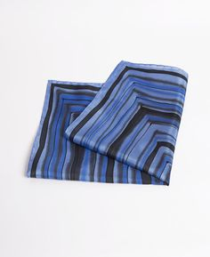 FREE SHIPPING Mens Hand Painted Silk Pocket Square by LigaKandele