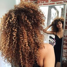 hair products dry hair on sale at reasonable prices, buy Ombre Human Hair Brazilian Curly Virgin Hair 4 Bundles Afro Kinky Curly Weave light Brown Virgin Deep Curly Hair Bundle Deals from mobile site on Aliexpress Now! Curly Hair Tips, Curly Hair Styles, Natural Hair Styles, Pelo Natural, Natural Curls, Coiffure Hair, Pelo Afro, Hair Highlights, Black Highlights