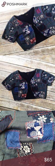"""Free People Boho Patchwork Bolero Shrug  ★ Excellent condition! ★ This adorable patchwork bolero shrug from Free People is a must have and perfect for summer, fall, and festival season! ★ No materials tag.  ★ NO TRADES OR MODELING! ★ YES REASONABLE OFFERS!  ★ Measurements: 15"""" long, 18"""" bust laying flat. No size tag, but lines up with size Small according to FP's sizing chart. ★ Poshmark Suggested User! Shop with confidence. :) Free People Jackets & Coats"""