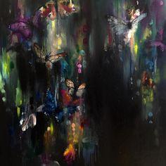 Katy Jade Dobson Art 'Flutter II' - butterfly oil painting