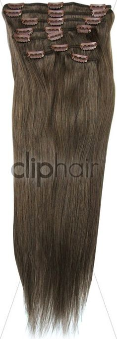 Full Head Clip in hair Extensions - I Shade #9 (Ash Brown) I From £44.99 - Get 20% OFF Using Code 'FHS20'  On Checkout #Sale