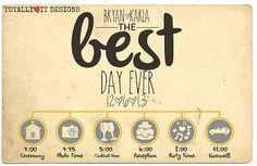 Custom Wedding Timeline Printable DIY by TotallyLoveItDesigns