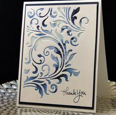 Thank You September 2016 Tim Holtz die. Brusho watercolors ...