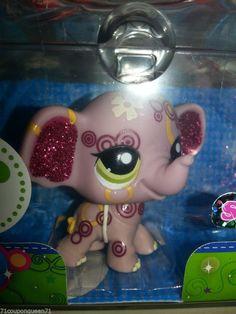 Littlest Pet Shop Shimmer N Shine 2154 Glitter Sparkle Elephant LPS New