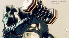 ArtStation - Robot with dumbells | Sport forever, Vladislav Ociacia