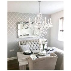 23 Ideas Silver Wallpaper Living Room Grey Decorating Ideas For 2019 Silver Wallpaper Living Room, Dining Room Design, Silver Wallpaper Bedroom, Accent Walls In Living Room, Grey Wallpaper Master Bedroom, Living Room Grey, Tree Wallpaper Living Room, Dining Room Wallpaper, Grey Dining Room