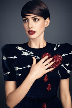 We dare you to kiss and makeup with Anne Hathaway in Bazaar's November issue. See the full editorial here.