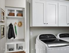 Organized Laundry Room Laundry Storage, Laundry Room Organization, Basement Laundry, Laundry Rooms, Doing Laundry, Stacked Washer Dryer, Model Homes, Home Appliances, Hacks