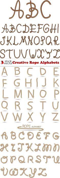 Vectors - Creative Rope Alphabets