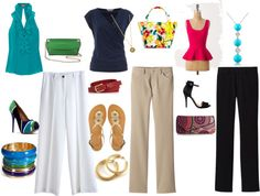 Pant Looks for Petite Inverted Triangle, created by jesiharwood on Polyvore