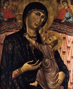 Maestro di San Remigio (Gaddo Gaddi ?(Fi, ca.1240-1312)) - Madonna col Bambino in trono e due Santi - 1300 - San Remigio, Firenze