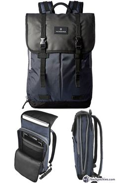 Victorinox Atmont 3.0 Flapover laptop backpack - best Tumi backpack alternative - backpackies.com