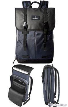 Victorinox Atmont 3.0 Flapover laptop backpack - best Tumi backpack alternative - backpackies.com