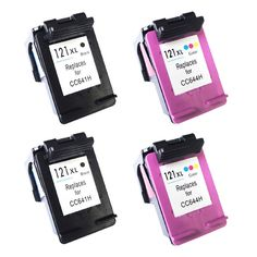 4 pk Black & Color ink Cartridges For HP 121 XL 121xl For HP Deskjet All In One F2423 F2430 F2476 F2480 F2483 F2488 printer