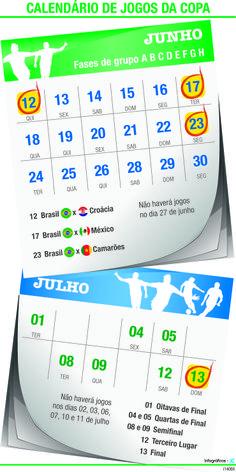JuRehder - Infográfico com datas da Copa para o Jornal da Cidade - Bauru/SP