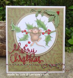 Lorraine's Loft: House Mouse 'Chin Up' :-) http://loraquilina.blogspot.com/2013/11/house-mouse-chin-up.html