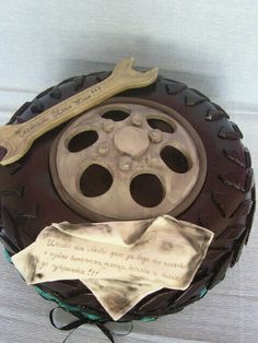 Ides for a grooms cake since Devin is a mechanic and loved working on cars-brb