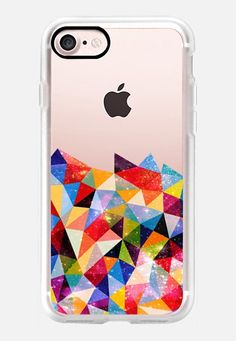 Space Shapes iPhone 7 Case by Fimbis | Casetify  #Transparent #geometric, #rainbow #abstract #fashion #pink #purple #blue #red