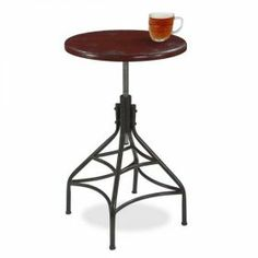 Industrial Loft Bar Table, Red