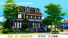 Commodious Residence Parenthood House Makeover for The Sims 4