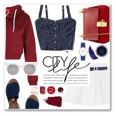 """city life"" by ermengarda-1 ❤ liked on Polyvore featuring Tory Burch, RED Valentino, Abercrombie & Fitch, Chloé, Korres, Lauren Ralph Lauren, Ellis Faas, Alexander McQueen, redwhiteandblue and july4th"