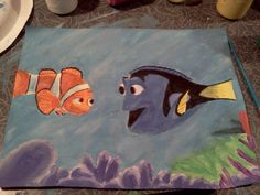 Finding Nemo painting (: