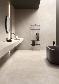 Limestone effect stoneware: Brystone - Keope Ceramic Tiles Best Bathroom Tiles, Small Bathroom, Master Bathroom, Beige Bathroom, Dream Home Design, Home Interior Design, House Design, Bad Inspiration, Bathroom Inspiration