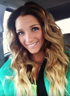 blonde ombre mom can I do this please??!!?? Love alani with my bangs it would be cute