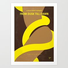 No127 My FROM DUSK TILL DAWN minimal movie poster - $22.99