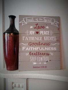 Painted sign  Fruit of the Spirit by BlessedHomeDecor on Etsy