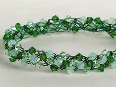 Verdant Wire Crochet Handmade Bracelet $25.95 #ibhandmade
