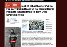 Navigation NC http://deadline.com/2014/03/ghostbusters-movie-going-forward-without-ivan-reitman-sony-701057/