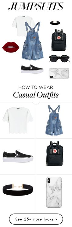 """casual and trendy"" by okokohana on Polyvore featuring Alexander McQueen, Fjällräven, Eloquii, Vans, Recover and jumpsuits"