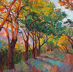 Paso Robles Painting - Lane Of Oaks by Erin Hanson