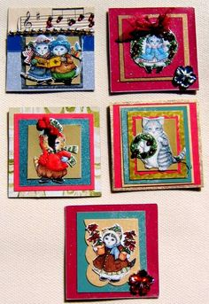 Christmas Inchies/Twinchies Swap: Whimsy Twinchies