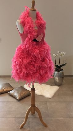 pink flamingo costume avant garde 50s inspired small. Black Bedroom Furniture Sets. Home Design Ideas