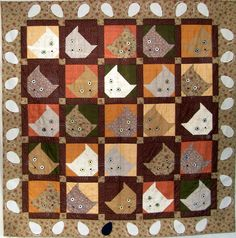 Cat and mouse quilt
