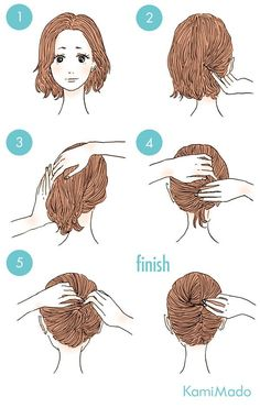 Short hair CAN go up. Here is an updo technique I ...